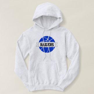 Blue Basketball Custom Team, Player Name & Number Hoodie