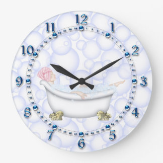 Blue Bathroom Bubbles Clocks