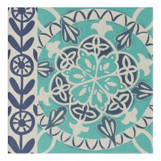 Blue Batik Tile I Acrylic Wall Art