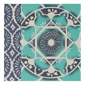 Blue Batik Tile II Acrylic Wall Art