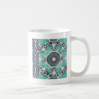 Blue Batik Tile II Coffee Mug