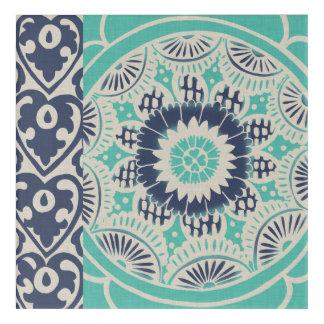 Blue Batik Tile III Acrylic Print