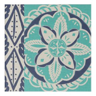 Blue Batik Tile IV Acrylic Print