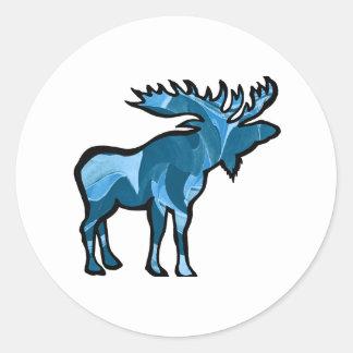 Blue Bayou Round Sticker