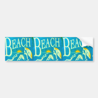 blue beach bumpersticker bumper sticker