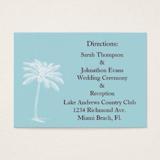 Blue Beach Getaway Direction Cards