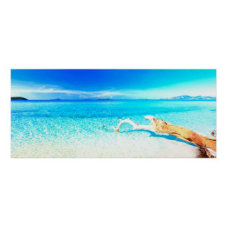 Blue beach paradise by healing love poster