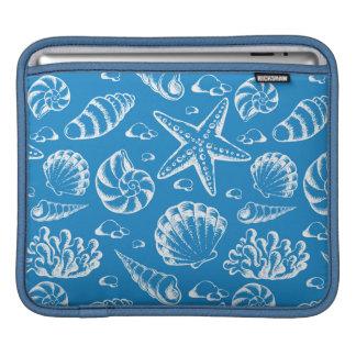 Blue Beach Pattern iPad Sleeves