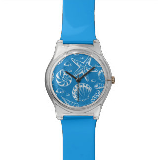 Blue Beach Pattern Watches