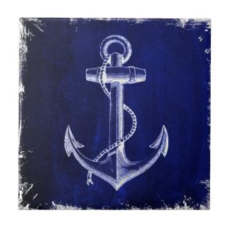 blue beach rustic shabby chic nautical anchor ceramic tile