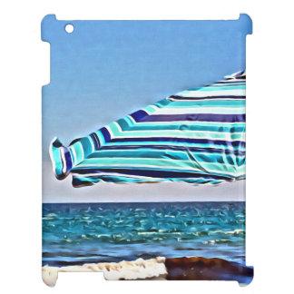 blue beach umbrella iPad case iPad Cases