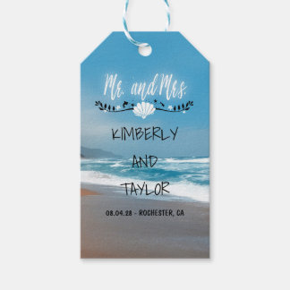 Blue Beach Wedding Pack Of Gift Tags