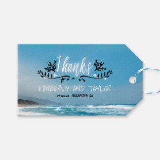 Blue Beach Wedding Thank You Pack Of Gift Tags