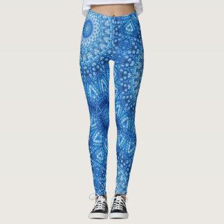 blue beads - leggings