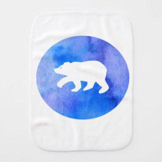 Blue bear burp cloths