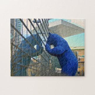 Blue Bear Monument Denver. Jigsaw Puzzle