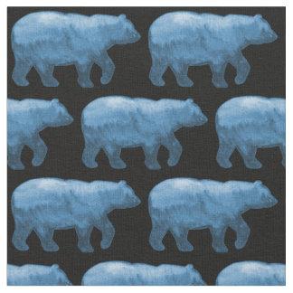 Blue Bears on Black Fabric H