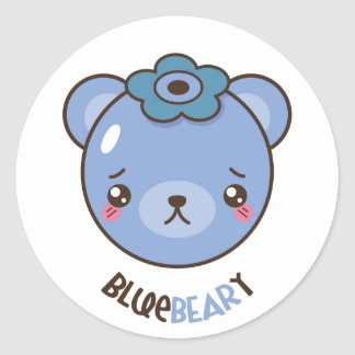 Blue Beary Stickers