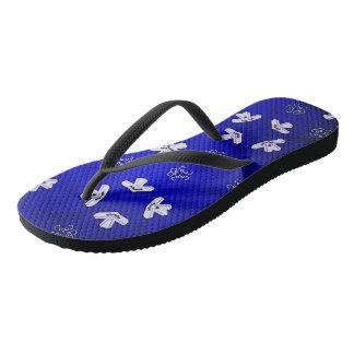 Blue Beijing Flip Flops