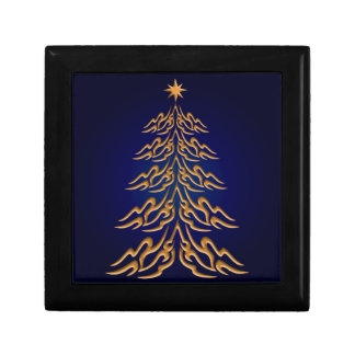 Blue Bell Christmas Tree Gift Box
