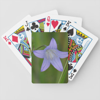 Blue bell flower poker deck