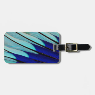 Blue-bellied Roller feathers Luggage Tag
