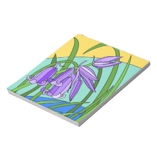 Blue bells in the forest notepad