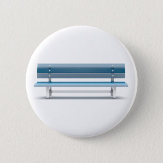 Blue bench 2 inch round button