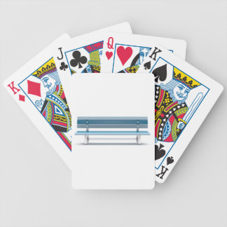 Blue bench bicycle playing cards