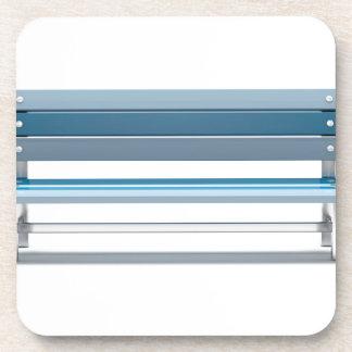 Blue bench coaster