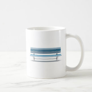 Blue bench coffee mug