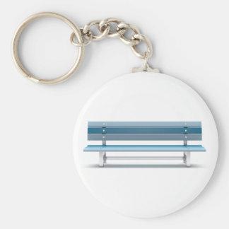 Blue bench keychain