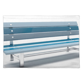 Blue bench placemat