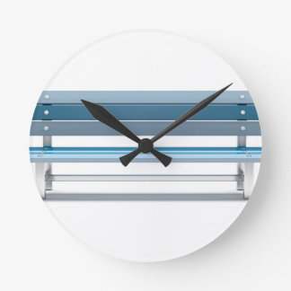 Blue bench round clock
