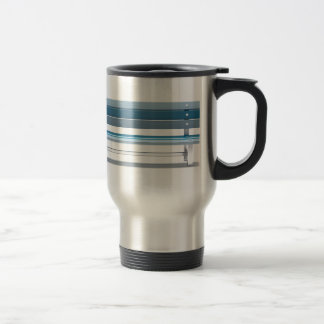Blue bench travel mug