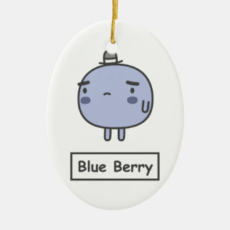 Blue Berry Ceramic Ornament