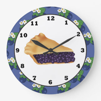 Blue Berry Pie sweet treat wall clock