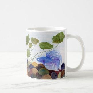 Blue Betta Fish Coffee Mug