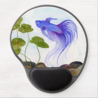 Blue Betta Fish Gel Mouse Pad