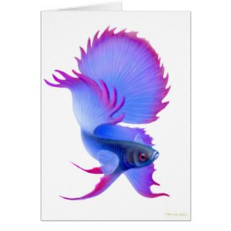 Blue Betta Fish Greeting Card