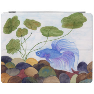 Blue Betta Fish iPad Cover