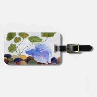 Blue Betta Fish Luggage Tag