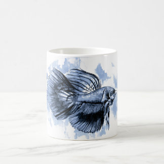 Blue Betta Fish Mug