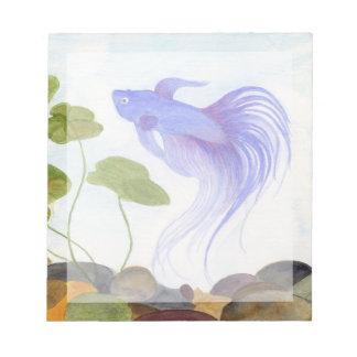 Blue Betta Fish Notepad