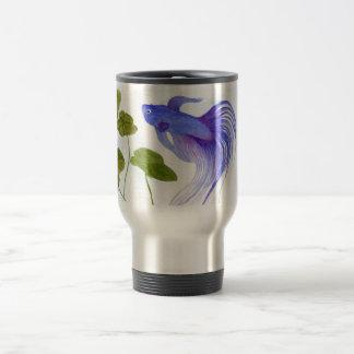 Blue Betta Fish Travel Mug