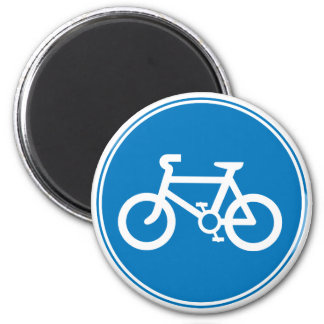 Blue Bicycle Magnet