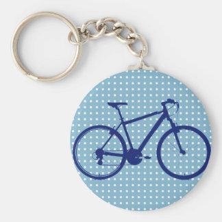 blue bike and polka dots keychain