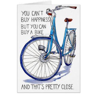 Blue Bike Happiness card