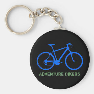 blue bike personalizable keychain