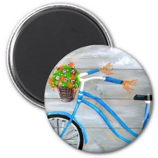 Blue Bike Zazzle 2 Inch Round Magnet